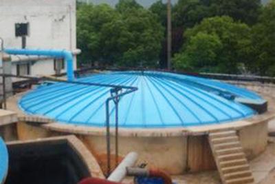 污水池不锈钢遮阳雨棚